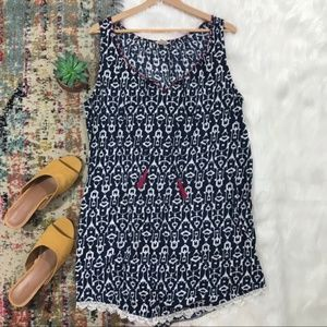Lucky Brand • Sleeveless Crochet Trim Mini Dress